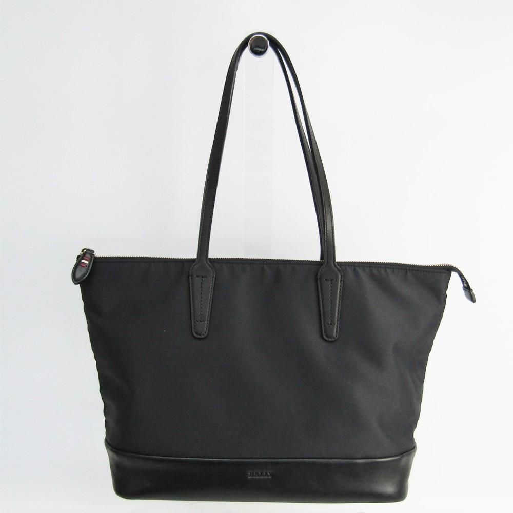5d125b09f01 Bally VISSI-SM Women s Leather,Nylon Tote Bag Black