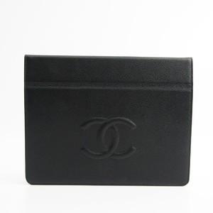 シャネル(Chanel) キャビア・スキン ケース iPad 対応 ブラック