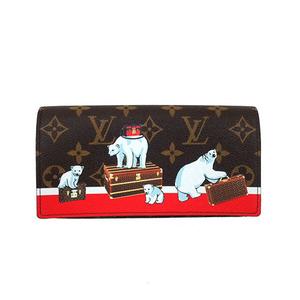 bded66d3724a4 Auth Louis Vuitton Long Wallet Monogram Portefeuille Sarah M62086