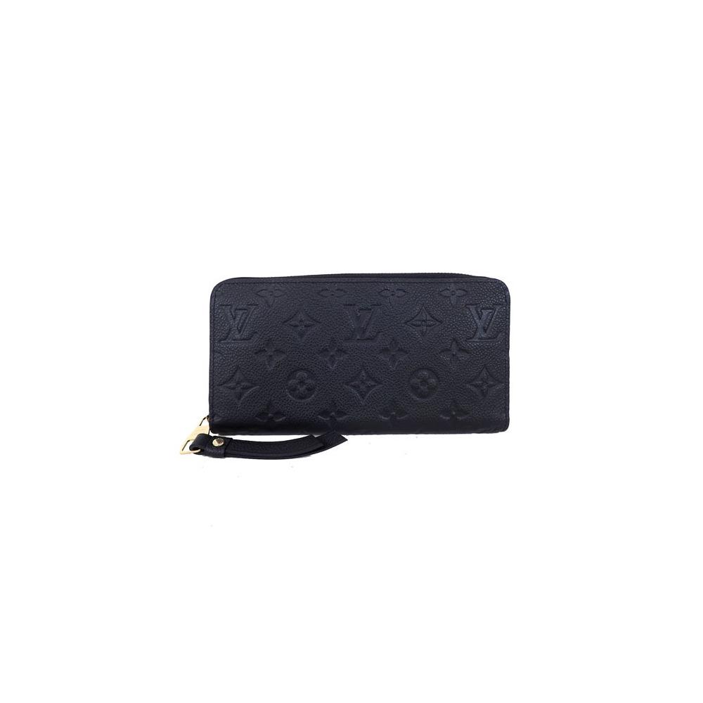 uk availability f0e22 5042b Auth Louis Vuitton Long Wallet Monogram Empreinte Zippy ...