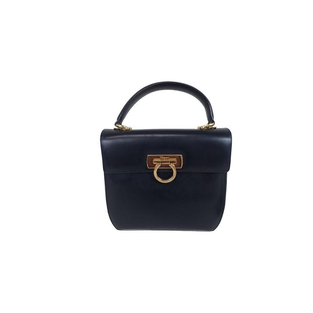 2ca861d9de08 Auth Salvatore Ferragamo Gancini 2Way Handbag