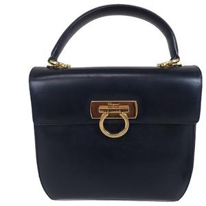 Auth Salvatore Ferragamo Gancini 2Way Handbag