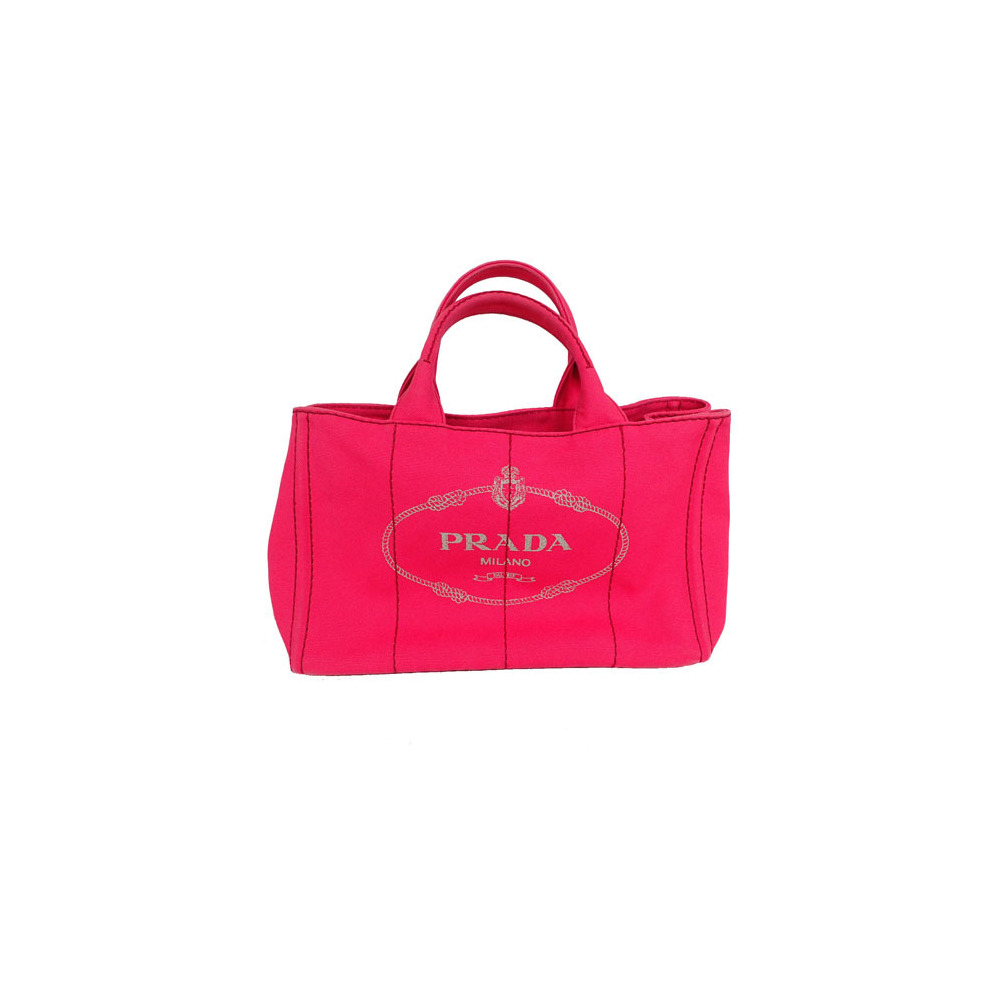 4870f44dba7f Auth Prada Canapa B2439G Canvas Tote Bag