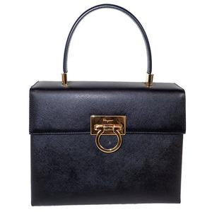 サルヴァトーレ・フェラガモ(Salvatore Ferragamo) ガンチーニ 2WAYバッグ 2WAY Bag バッグ ブラック