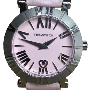 Tiffany Atlas Quartz Ceramic,Stainless Steel Women's Dress Watch Satin leather Z1300.11.11A31A41A