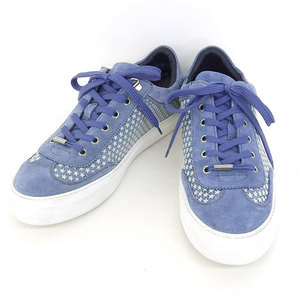 Genuine Jimmy Choo Cheu Suedo Star Pattern Mens Sneaker Light Blue 43
