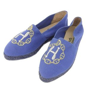 Real Hermes Esbadrillo Slippon Shoe Blue 36