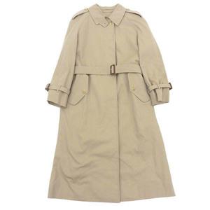 Authentic Burberry Single Trench Coat Khaki Ladies 9 Ab 2