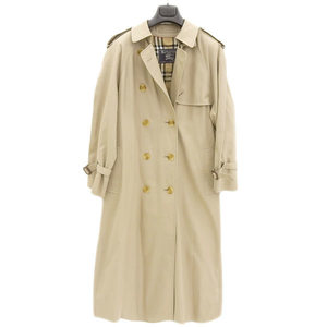 Authentic Burberry Trench Coat England Made Check Pattern Ladies 8