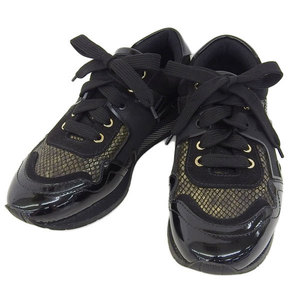 Genuine Jimmy Choo Chu Men's Sneakers Black Gold 41