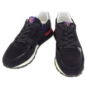 Genuine Article Louis Vuitton Mens Sneakers Black Purple Red 38 1/2