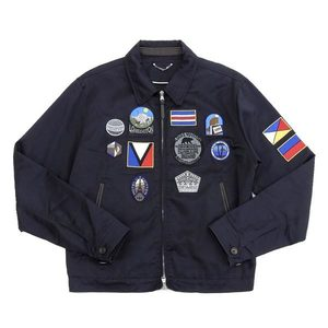 Authentic Louis Vuitton Mens Blouson Patch 2012 Collection Navy 50