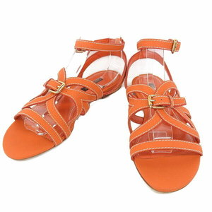 Authentic Louis Vuitton Gladiator Strap Sandals Orange 37