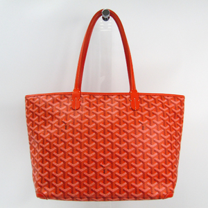 Goyard Artois PM Women's Canvas,Leather Tote Bag Orange