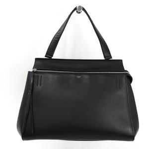 Celine Edge Medium 172613 Women's Leather Handbag Black