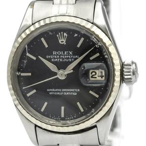ロレックス(Rolex) オイスターパーペチュアル デイト 自動巻き ステンレススチール(SS),ホワイトゴールド(WG) レディース ドレスウォッチ 6517