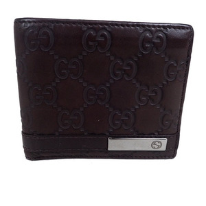 Auth Gucci Guccissima Leather Double Fold Wallet