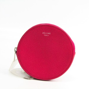 Celine 102923TD1 Women's Leather Coin Purse/coin Case Pink