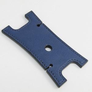 Hermes Leather Accessory Navy Earphone holder