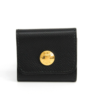 Hermes Courchevel Leather Notebook Black Post it cover