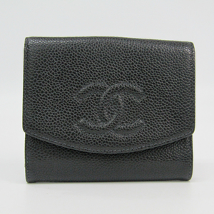 Chanel Caviar Leather Wallet (bi-fold) Black