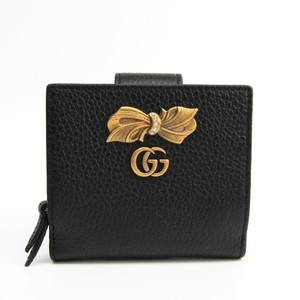 Gucci Bow Leather Wallet 524298 Women's Leather Wallet Black