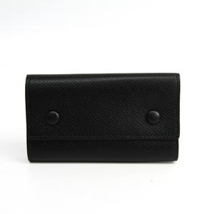 Hermes Unisex Epsom Leather Key Case Black
