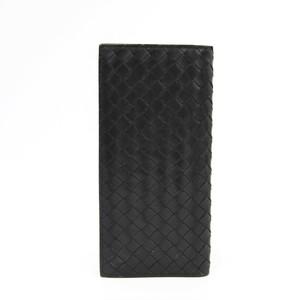 ボッテガ・ヴェネタ(Bottega Veneta) イントレチャート 120697 レザー 長財布(二つ折り) ブラック