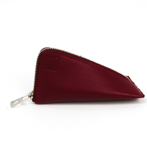 Loewe BERLINGO Women's Leather Coin Purse/coin Case Red