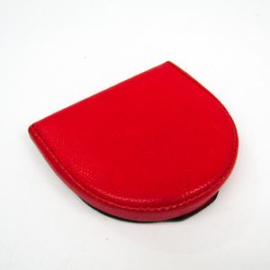 Valextra Women,Men  Calfskin Coin Purse/coin Case Red