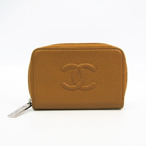 Chanel Women's Caviar Leather Card Wallet Beige