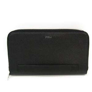 Furla MAN MARTE 938231 Men's Leather Long Wallet (bi-fold) Black