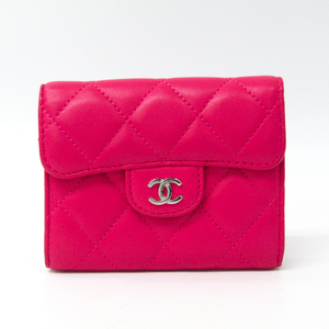 Chanel Matelasse  Lambskin Coin Purse/coin Case Pink