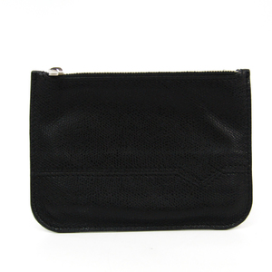 Valextra Unisex Leather Coin Purse/coin Case Black