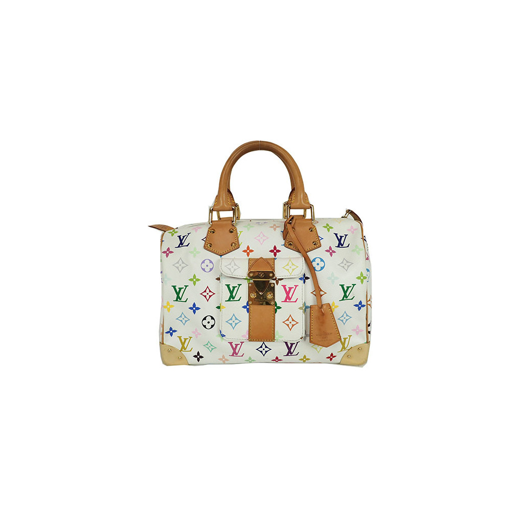 09036aef3c4e Auth Louis Vuitton Handbag Monogram Multicolore Speedy 30 M92643