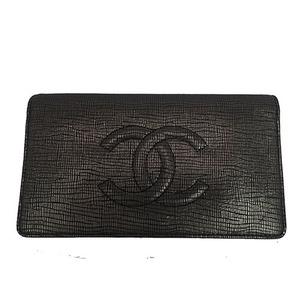 Auth Chanel  Bi-fold Wallet Black
