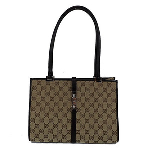 Auth Gucci GG Canvas 002-1073 Handbag Beige