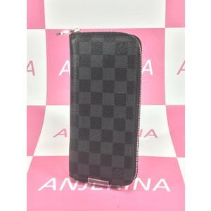 Louis Vuitton Zippy Wallet Vertical N63095 Men's Leather,Damier Graphite Long Wallet (bi-fold) Black,Gray