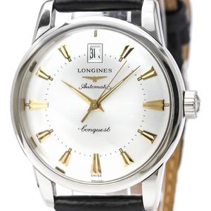 【LONGINES】ロンジン コンクエスト ヘリテージ ステンレススチール レザー 自動巻き メンズ 時計 L1.611.4