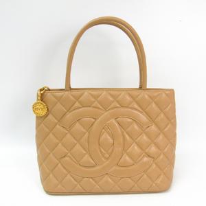 シャネル(Chanel) キャビア・スキン 1804復刻 A1804 レディース レザー トートバッグ ベージュ