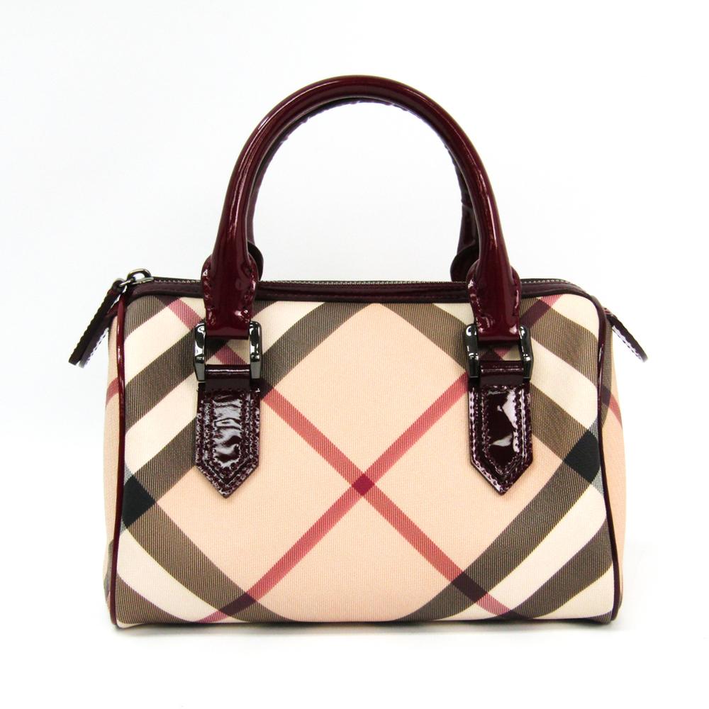 Burberry Women's PVC,Leather Handbag