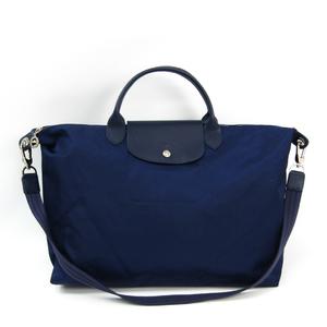 ec1d1d6b47acab Longchamp Le Pliage 1630 578 556 Women's Nylon,Leather Shoulder Bag,Tote Bag  Navy