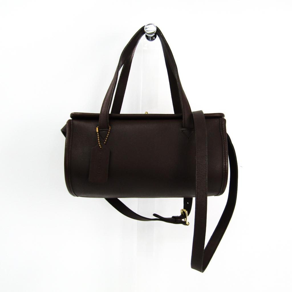 Coach 9045 Women s Leather Handbag Dark Brown BF328746  2601453c1ef74