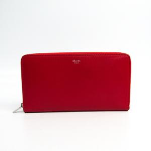 セリーヌ(Celine) ラージ ジップドマルチファンクション 105003 レディース レザー 長財布(二つ折り) レッド