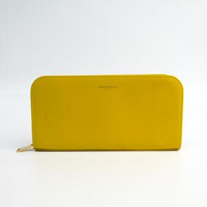 Saint Laurent 326599 Women's  Calfskin Long Wallet (bi-fold) Yellow