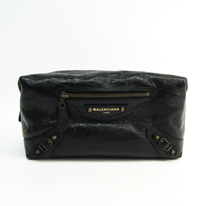 Balenciaga 439714 Women's Leather Clutch Bag,Pouch Black
