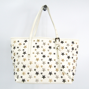 Jimmy Choo Sasha S J000057108001 Women's Leather Tote Bag Ivory