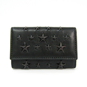 Jimmy Choo Women's Leather Key Case Black NEPTUNE