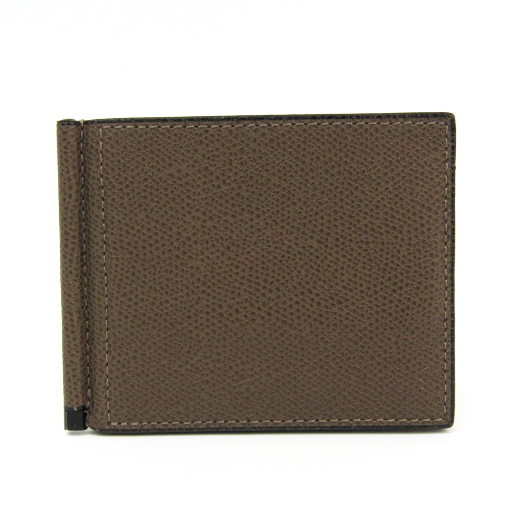Valextra V0L80 Men's  Calfskin Wallet (bi-fold) Brown