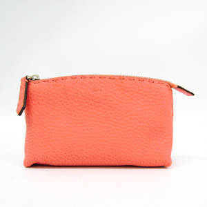 Fendi Selleria 8N0114 Women's Leather Pouch Pink
